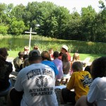 Outdoor worship at Brethren Woods